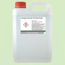 Peróxido de hidrógeno 3% de grado alimenticio BP H2O2 2.5 litros (2.5L)