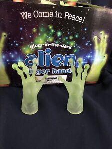 Glow In The Dark GID  Alien Finger Hands Puppets