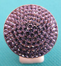 925 Silver Ring With Faceted Amethyst In Unusual Setting UK T, US 9.50  (rg2320)