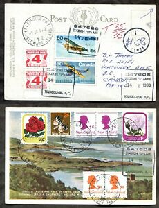 Canada 1983 Postage Dues on Postcard from SREWART ISLAND New Zealand (inv:p2192)