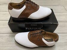 FootJoy Icon Black Men's Golf Shoes White/Chestnut Lizard Size 10W 52006