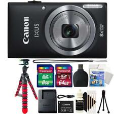 Canon IXUS 185 / ELPH 180 20MP Digital Camera Black and Top Accessory Bundle