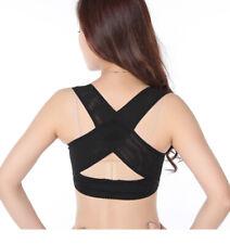 Body Shape Wellness Posture Corrector Elastic Shoulder Back Support Belt Vest UK