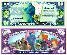 MONSTER'S INC. W. DISNEY . Million Dollar . Billet de commémoration / Collection
