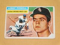 VINTAGE OLD 1950S BASEBALL 1956 TOPPS CARD LEROY POWELL CHICAGO WHITE SOX