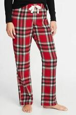 OLD NAVY PAJAMA WOMENS PANTS LOUNGE FLANNEL PLAID RED GREEN EXTRA LARGE XL NEW