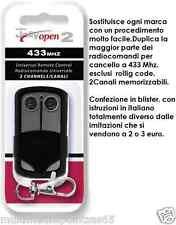 Kit 10 Remote Radio Control Gate Opener Universal Jolly Open 433mhz