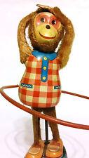 Vintage Plaything Mechanical Hula Hoop Wind Up Monkey-Works!