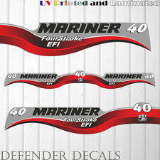 Mariner 40 HP EFI four stroke outboard engine decal sticker set kit reproduction
