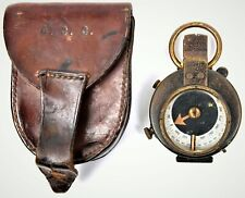 More details for 1914/16 vernier's prismatic compass private purchase with original leather case