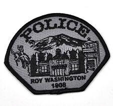 Roy Police Washington Uniform Aufnäher USA Polizei Emblem Patch Bügelflicken