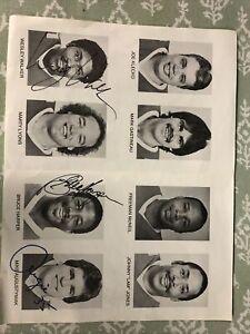 1984 New York Jets - 6 Signatures/Charity Brochure - Wesley Walker, Bruce Harper