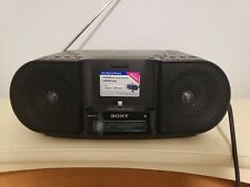 Sony ZS-S3iPN CD Player AM/FM Personal Audio System w/iPhone/iPod Dock remote