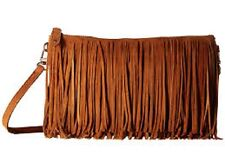 New Handbag Butler Mighty Purse Smart phone Cherger  BROWN FRINGE Crossbody gift
