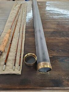 Larry counce custom bamboo Fly fishing rod 7.6 4wt nodless