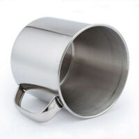 250ML Stainless Steel Cup Camping Instant Drinking Coffee Tea Mugs Portable