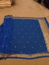 Used embroidered saree  With Size 10 Blouse.