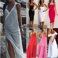Multi Styles Boho Womens Summer Ladies Party Evening Beach Long Maxi Dress 6-14