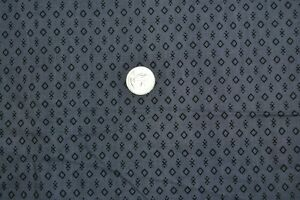 "Cotton quilting fabric 34"" x 2.6 yards, vintage geometric print black & gray"