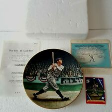 Babe Ruth The Called Shot Collector Plate #1 Legends of Baseball 22K Rim COA '92