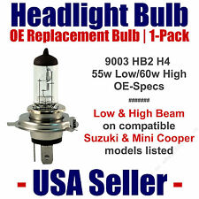 Headlight Bulb Low/High Replacement Fits Listed Suzuki/Mini Cooper Models 9003