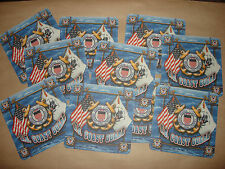 Collection Of 10 NEW 2-Side US COAST GUARD Drink Coasters < Great Gift >