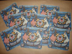 Collection De 10 Neuf 2-Side États-Unis Coast Guard Boisson Dessous < Grand Gift