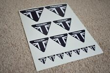 Triumph Motorcycles Yamaha Motorbike Bike Race Racing Decal Stickers Black