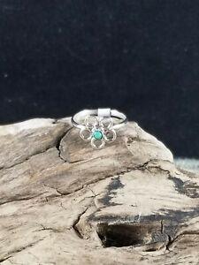 Opal Flower Ring, size 5 1/4