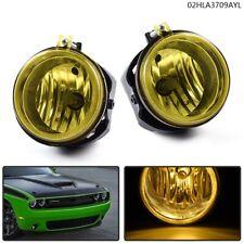 Yellow Fog Lights Lamps+Bulbs For Dodge Challenger Charger Nitro Avenger Caliber