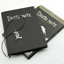 Anime Theme Cosplay Death Note Cosplay Notebook Book + Black Letter L Necklace