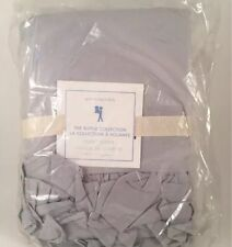 Pottery Barn Kids Gray Twin Duvet Cover Ruffle Collection NEW