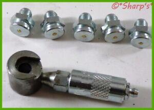 JD7828 JD7823 * John Deere 40 420 430 Crawler Grease Fittings with Tool * USA!