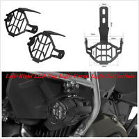 2 Pcs Black Aluminum LED Fog Light Lamp Guards Cover For BMW R1200GS ADV F800GS