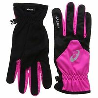 Asics Winter Running Gloves - Pink Large Reflective Logo A131-5