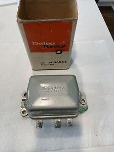 NOS Delco Remy 9000554 12V Transistorized Voltage Regulator 1959-62 Chevrolet OE