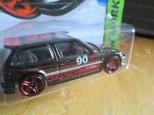 HOTWHEELS 1990 BLACK HONDA CIVIC HATCHBACK CAR SCALE 1:64 - HW WORKSHOP