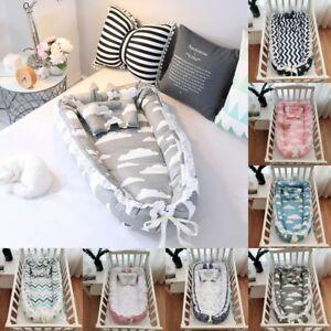 Portable Baby Pod Nest Newborn Reversible Cocoon Bed Sleep Newborn Cushion Bed