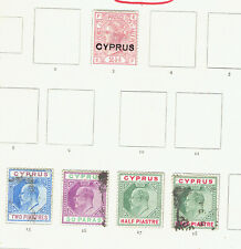 Cyprus: small collection of earlies to 1937, unchecked, mixrd condition