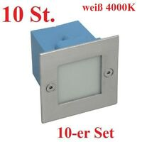 10 Set LED Wall-mounted luminaire TAXI 1,5W Stair spotlight MC white