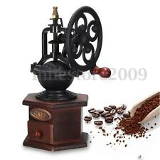 Vintage Grinder Manual Coffee Bean Grinding Retro Machine Hand Wooden Burr Mill