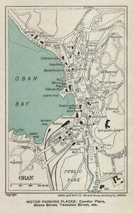 OBAN vintage tourist town city plan. Scotland. WARD LOCK 1934 old vintage map