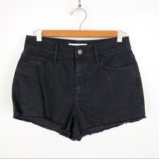 Abercrombie & Fitch Black Denim Cut Off Shorts 29 8
