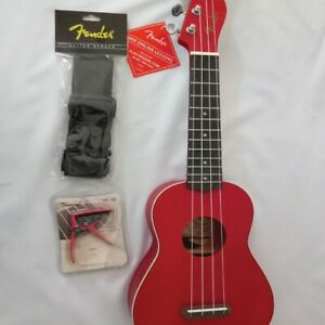 Christmas Promo Fender Mini 23 Wooden Acoustic Guitar - RED