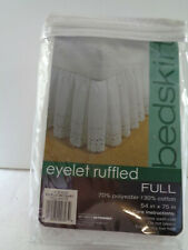 Nip Bed Bath & Beyond Full Eyelet Ruffled Bed Skirt White