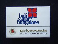 BALI SANUR BUNGALOWS GRIYAWISATA HOTEL CORPERATION0361 88421 MATCHBOX