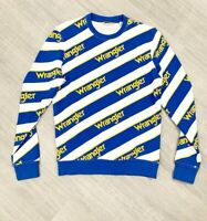 Wrangler Pull Over Top Yellow Blue Mix Sz Small Long Sleeve Jumper RARE