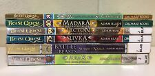 6 Beast Quest Books by Adam Blade Claw Madara Tecton Slivka Sepron vs Narga Arax