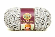 Lion Brand Yarn Company 1-Piece Wool-Ease Thick and Quick, Grey Marble