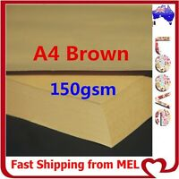100x A4 150GSM Brown Kraft Thick Paper Sheet Natural Recycled Invitation Wedding